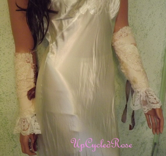 Arm Candy OOAK Lace Up Pair of Sleeves Bohemian Wedding Prom Accessory Be Your Own Kind Of Beautiful Ready to Ship