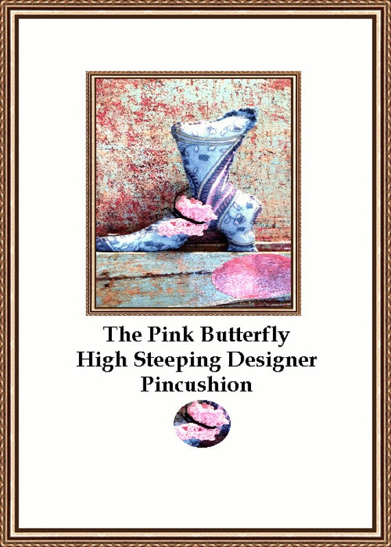 The Pink Butterfly High Stepping Victorian Boot