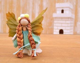 Waldorf Fairy Doll - waldorf fairies, miniature fairy doll, miniature fairies, flower fairy doll, flower fairies, mini fairy doll, pixie