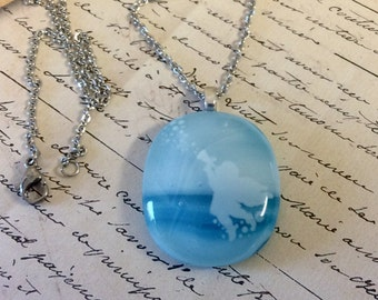 Blue Angel Necklaces - Handmade Fused Glass Gift