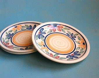Biltons - 3 side plates eighties English flower pattern