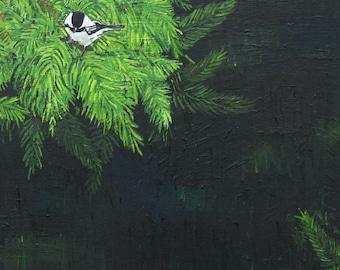 Chickadee Painting Art Print