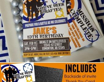 Nerf Wars Invitation | Nerf Printable Invitation | Nerf Wars Birthday | Nerf Decorations | Nerf Party | Invitation | Epic Parties by REVO