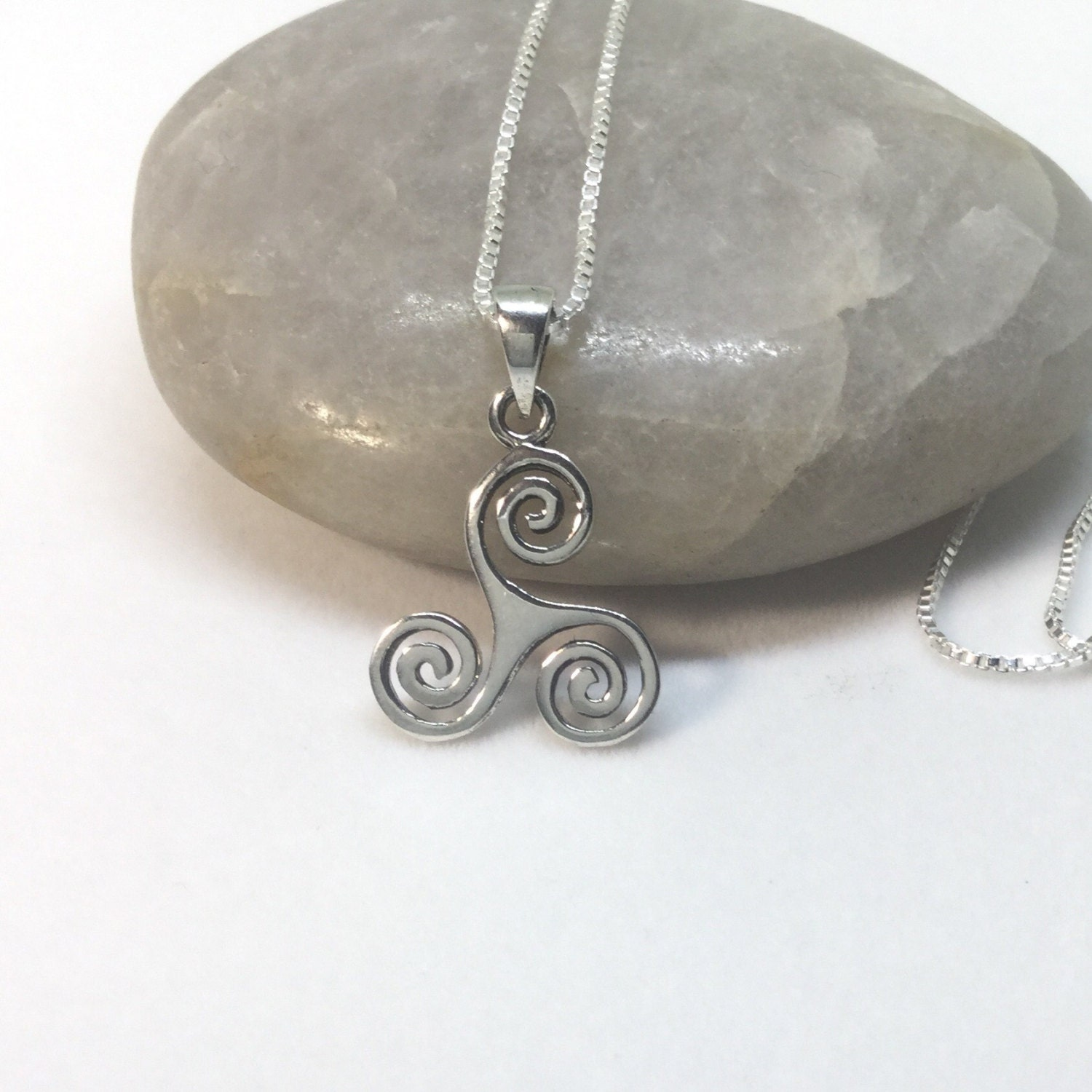 Triskele necklace sterling silver celtic pendant triskele pendant triskele necklace sterling silver celtic pendant triskele pendant triskelion charm small silver triple spiral pendant celtic necklace mozeypictures Images
