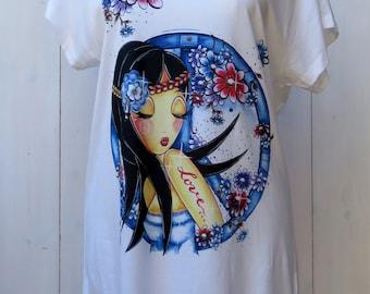 Tee shirt Loose woman SCARLET Peace & Love cotton modal