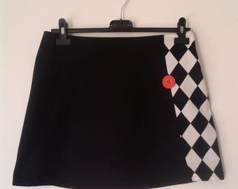 Short flared cotton skirt