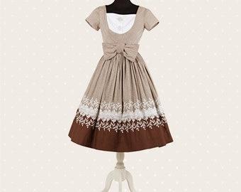 1950s Vintage picnic dress