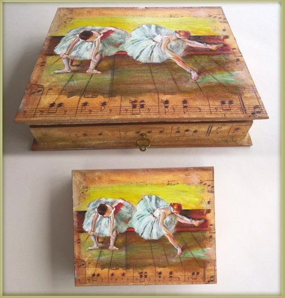 Wooden Box, Wooden Crates, Wooden Storage Boxes, Wooden Keepsake Box, Memory Box, Keepsake Box, DANCERS