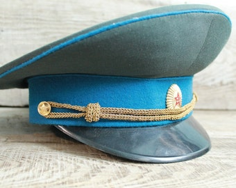 Vintage Soviet Army Cap, Soviet Officer's Military Hat Cap  Military Hat Cap NEW Condition