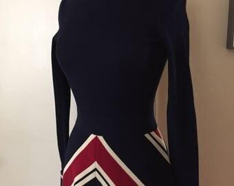 Crissa Linea Italiana Wool Chevron Dress Mary Tyler Moore All the Way