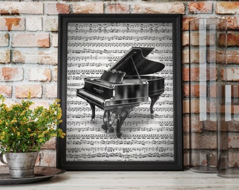 Vintage Piano Sheet Music Art Print