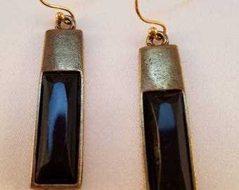 Black & Gold dangle earrings.
