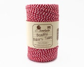 Red Baker's Twine 100m - Beefeater Red & White Twine - Red Twine - Everlasto Twine - Christmas Baker's Twine - Cotton Twine - Gift Wrapping