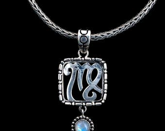 Sterling Silver Virgo Necklace: VIRGO