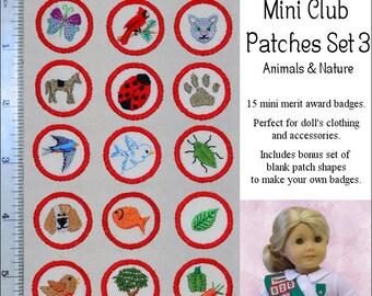 Pixie Faire Genniewren Designs Mini Club Patches Design Set 3 - Animals and Nature Machine Embroidery Designs