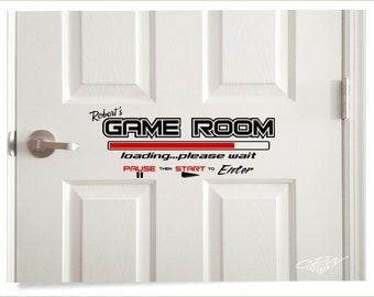 Gamer Wall Vinyl Decal, Game Room Decal, Video Game Wall Art, Personlized  Video