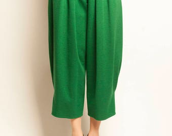 SONIA RYKIEL 1980's green wool balloon pants