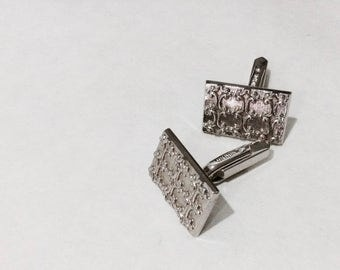 Hickok Cuff Links, Vintage Silver Coloured Mens Cufflinks, Mens Accessories