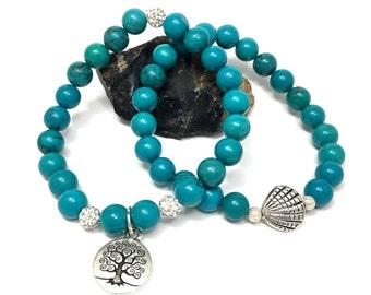 Turquoise Howlite Stretch Bracelet Set