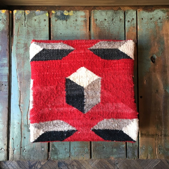 Navajo Rug, Vintage Geometric Navajo Rug, Authentic 1960s Woven Rug Wall Hanging