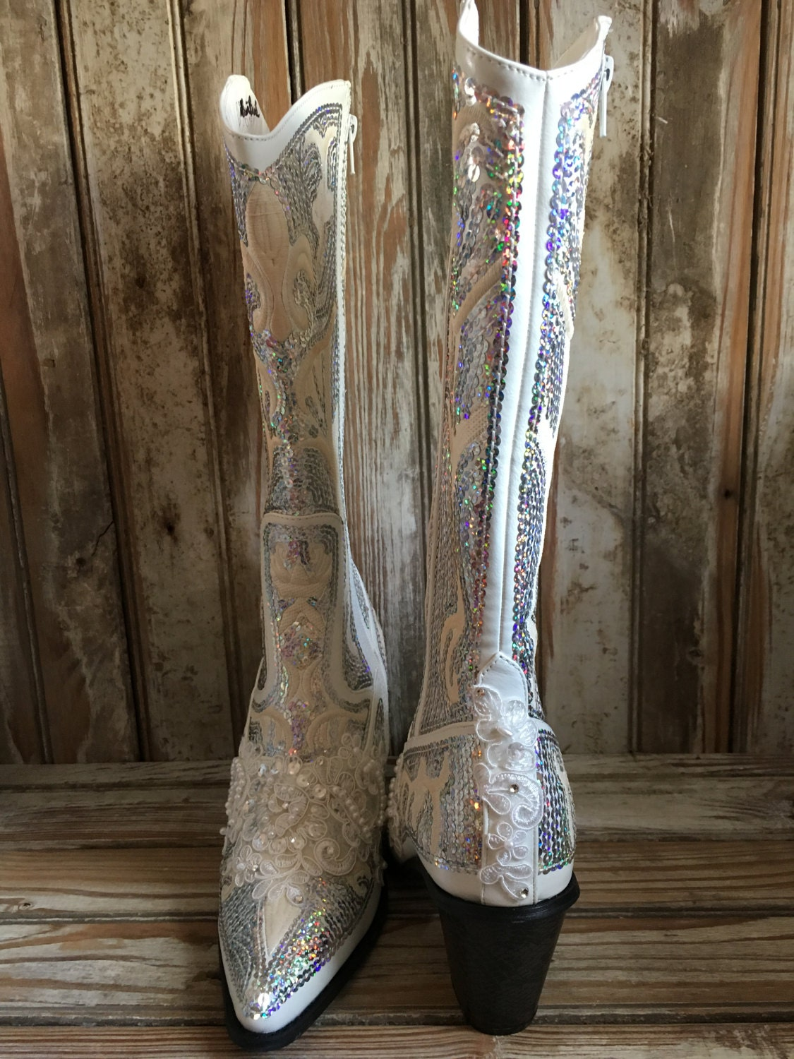Bling Boot Bridal Boot Cowgirl Country Wedding Beaded Prom