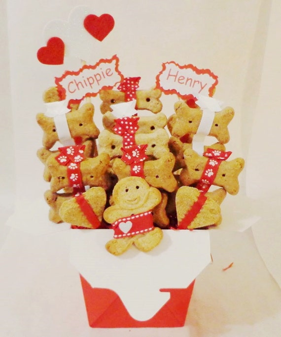 Etsy Dog Gift Baskets : Items similar to valentines day dog treat gift basket