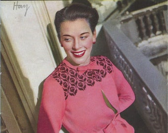 March 1948 Stitchcraft Knitting Book  - Women's Sweaters and Cardigans - Original Patterns