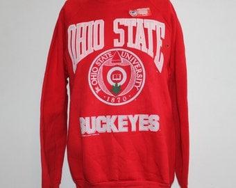 Vintage Deadstock Ohio State Buckeyes NCAA Crewneck Sweatshirt L
