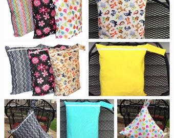 XL Wet Bag- Wet Bag for Cloth Diaper, Washable, Leakproof & Reusable.