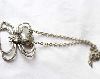 """Necklace """"Spider"""" Silver - spider"""