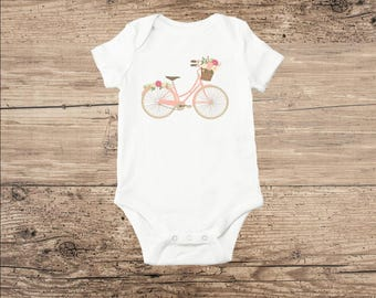 Bicycle Baby Clothes, Bicycle T Shirt in Pink