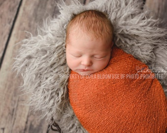 Stretch Knit Wrap, Newborn Knit Wrap, Orange Knit Wrap, Orange Newborn Wrap, Photography Knit Wrap, Knit Wrap, Photography Prop