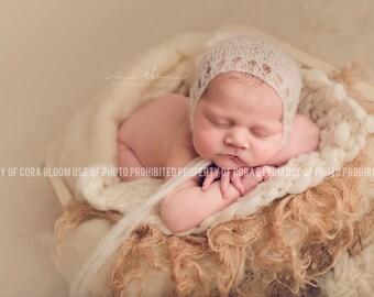 Newborn Hat, Bonnet, Newborn Bonnet, Mohair Hat, Newborn Boy Props, Knit Hat, Newborn Knit Hat, Photo Props, Photography Props, Newborn Prop