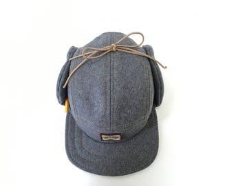 mens winter hat, five panel, flap cap, handmade winter cap, woodworkers gift , woodworkers hat , carpenter gifts , carpenter hat , mens gift
