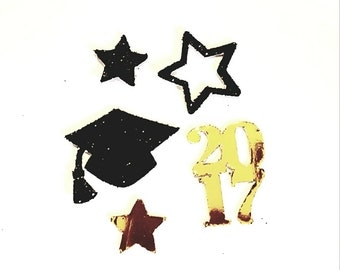 Black and Gold Graduation Confetti.