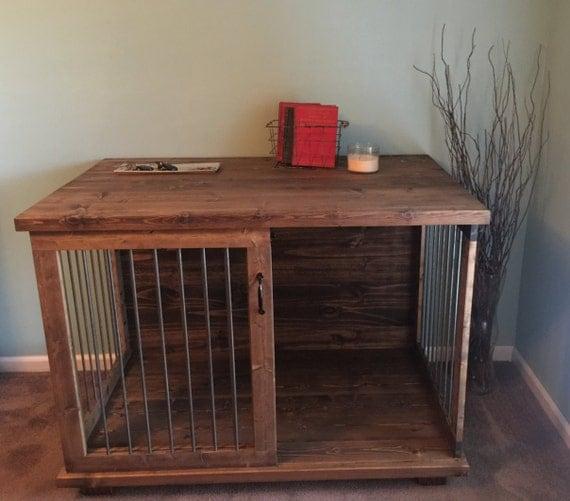 Custom Dog Kennel   Dog Crate Furniture   Sliding Door Kennel   Custom Kennel  Dog Bed   Pet Cage   Dog Cage   Pet Furniture   Wood Kennel