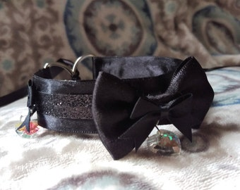 Black Kitten Play Collar With Charms // Choker // Cosplay
