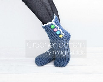 Crochet slippers pattern, crochet loafers, all women sizes,women crochet boots,easy crochet slippers, women crochet slippers,crochet shoes