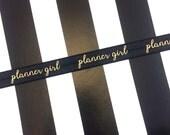 Black Planner Girl Planner Band // Book Strap // Headband // #031
