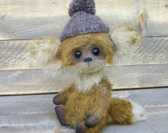 Fox mohair fox handmade fox stuffed animal artist teddy fox woodland animal fox animal lover gift
