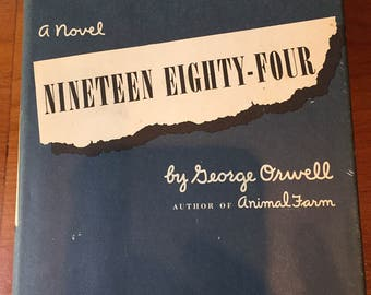 1984 by George Orwell, 21 st Printing, Hard Cover Book w/ dust Jacket, 1949, 1977