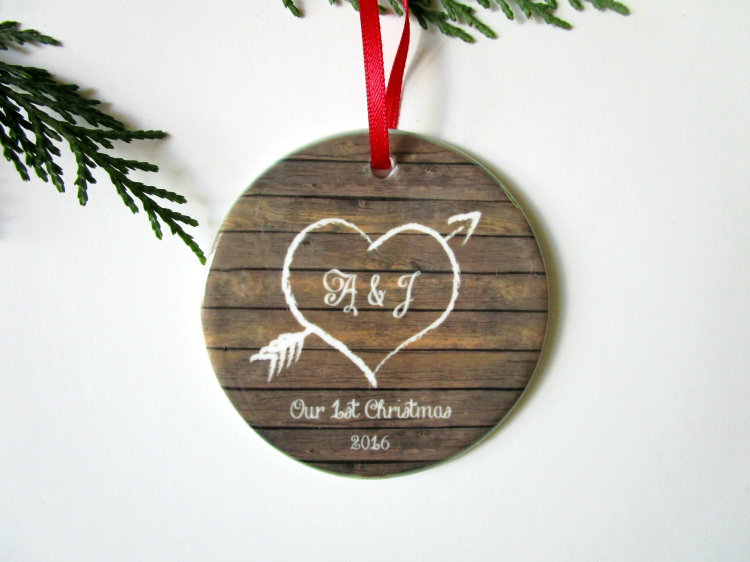 Our First Christmas Ornament Couples 1st Christmas