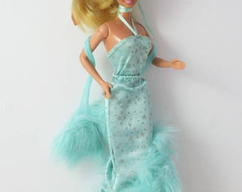 Star on Ice Barbie Superstar Fashion Turquoise Green Silver Star 1988 Barbie - Superstar Era