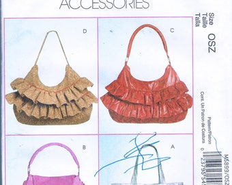 Hobo Bag Sewing Pattern - Sling Purse Pattern - Shoulder Bag Pattern - Craft Sewing Pattern  - McCalls Fashion Accessories M5899