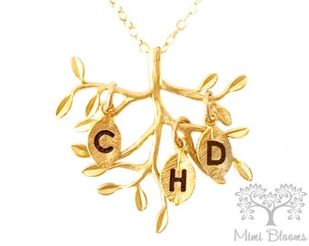 Family tree, tree of life necklace, family necklace, tree branch, personalized family tree, gift for grandma, gift for mom