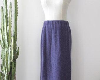 Vintage purple wool tube skirt. wool pleat skirt. Soft fluffy wool skirt. 90s high waisted skirt. Purple winter skirt. Wool wiggle skirt