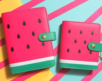 DOKIBOOK Watermelon A6 A7 Faux Leather Organizer Planner Notebook Binder PU