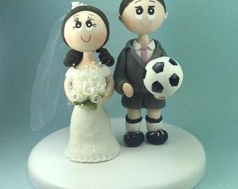 Sports Wedding Cake Topper Custom Soccer