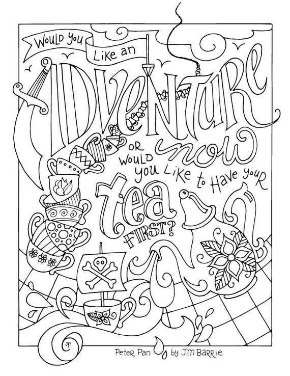Peter Pan Coloring Page Jm Barrie Quotes Adventure
