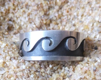 Sterling Silver Wave Ring ...... size 7 only
